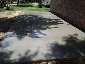 concrete slab installation