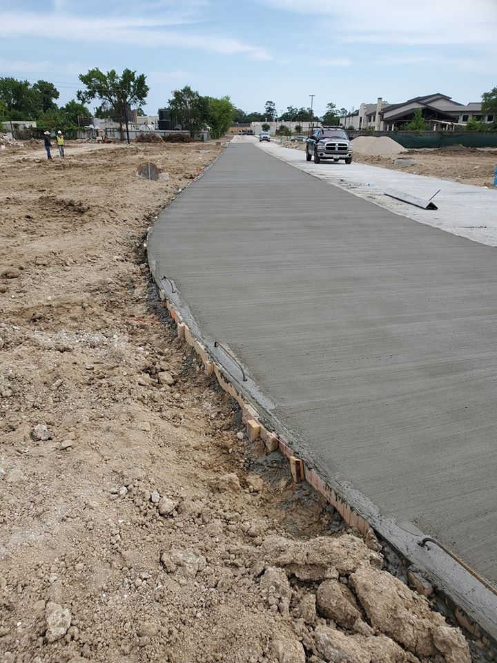 image of concrete road pour