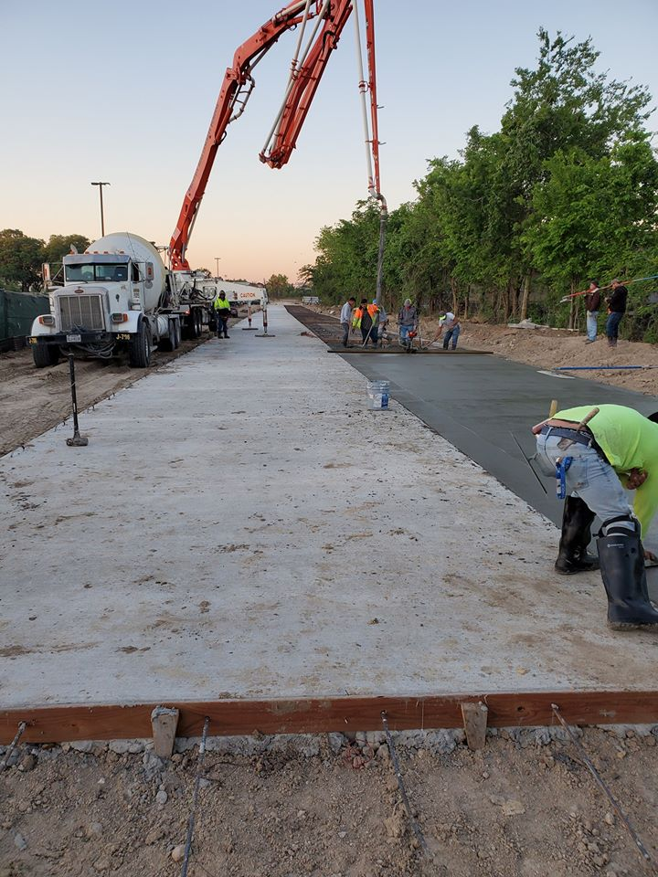 pouring concrete on commercial project